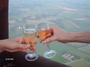 Ballonvaart champagne
