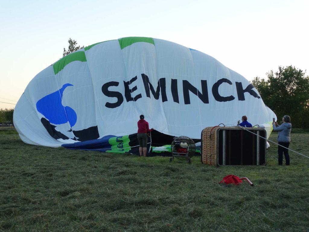 Luchtballon Seminck_opblazen